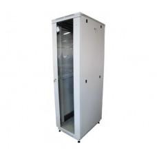 """Шкаф телекоммуникационный 19"""" 27U 600x600, дверь стекло, серый (RAL 7035), RM01-0606.27.02-GY"""