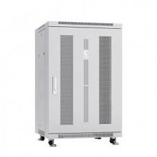 """Шкаф телекоммуникационный 19"""" 18U 600x600, дверь перфорированная, серый (RAL 7035), Cabeus, ND-05C-18U60/60"""