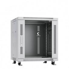 """Шкаф телекоммуникационный 19"""" 12U 600x600, дверь стекло, серый (RAL 7035), Cabeus, SH-05C-12U60/60"""