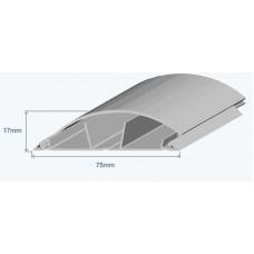 Efapel 10120CCZ Напольный короб, 75x17мм, серый