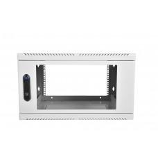 """Шкаф телекоммуникационный 19"""" настенный, 9U 600x300, дверь стекло, серый (RAL 7035), ШРН-9.300"""