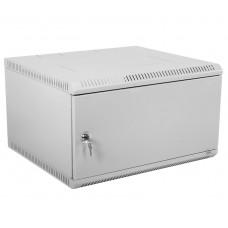 """Шкаф телекоммуникационный 19"""" настенный разборный, 6U 600x350, дверь металл, серый (RAL 7035), ШРН-Э-6.350.1"""