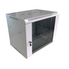 """Шкаф настенный 19"""" ЭЛИТ 6U 600x450, дверь стекло, серый (RAL 7035), RMW011-0645.06.02-GY"""
