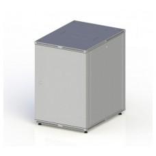 "Шкаф настенный 19"" 6U 600x350, дверь металл, серый (RAL 7035), RMW01-0635.06.01-GY"