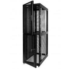 """Шкаф телекоммуникационный 19"""" серверный ПРОФ колокейшн, 46U 600x1000, дверь перфорированная, черный (RAL 9005), ШТК-СП-К-2-46.6.10-44АА-Ч"""