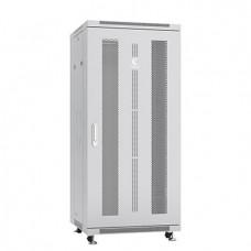 """Шкаф телекоммуникационный 19"""" 27U 600x600, дверь перфорированная, серый (RAL 7035), Cabeus, ND-05C-27U60/60"""