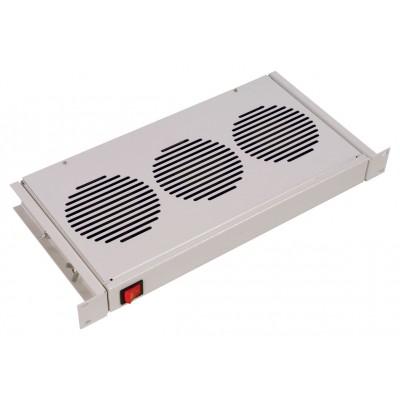 """МВ-400-3 Модуль вентиляторный 19"""" (3 вентилятора) для напольных и настенных шкафов , 1U"""