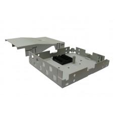 ШКО-Н-MI (КН-8-ST/FC) Бокс оптический настенный на 8 ST(FC) со сплайс пластиной Mini (без пигтейлов и проходных адаптеров)
