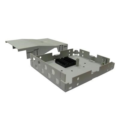 ШКО-Н-MI (КН-SC-8) Бокс оптический настенный на 8 SC (LC duplex) со сплайс пластиной Mini (без пигтейлов и проходных адаптеров)