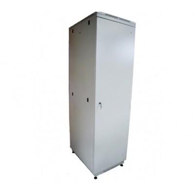 "Шкаф телекоммуникационный 19"" 38U 600x1000, дверь металл, серый (RAL 7035), RM01-0610.38.01-GY"