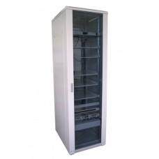 """Шкаф телекоммуникационный 19"""" ЭЛИТ 22U 600x600, дверь стекло, серый (RAL 7035), RM011-0606.22.02-GY"""