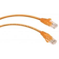 Патч-корд UTP, неэкранированный, категория 5e, 1м, оранжевый, PVC, Cabeus, PC-UTP-RJ45-Cat.5e-1m-OR