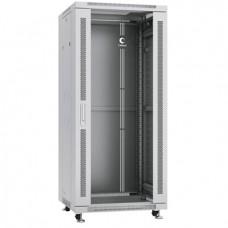 """Шкаф телекоммуникационный 19"""" 27U 600x600, дверь стекло, серый (RAL 7035), Cabeus, SH-05C-27U60/60"""