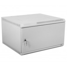 """Шкаф телекоммуникационный 19"""" настенный разборный, 6U 600x650, дверь металл, серый (RAL 7035), ШРН-Э-6.650.1"""