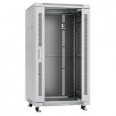 """Шкаф телекоммуникационный 19"""" 22U 600x600, дверь стекло, серый (RAL 7035), Cabeus, SH-05C-22U60/60"""