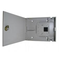 ШКО-Н (КНз-8-ST(FC)-1КУ) Бокс оптический настенный на 8 ST(FC) со сплайс пластиной (без пигтейлов и проходных адаптеров)