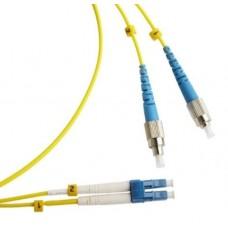 Шнур оптический (патч-корд) duplex LC/UPC-FC/UPC 9/125 2м, DPC-9-LC/U-FC/U-3.0-2