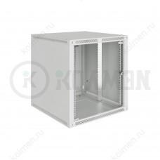 """Шкаф телекоммуникационный настенный Lite 19"""" 12U 600x600, дверь стекло, серый (RAL 7035), SRW03-6060.12.02-GY"""