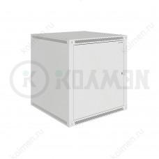 """Шкаф телекоммуникационный настенный Lite 19"""" 12U 600x600, дверь металл, серый (RAL 7035), SRW03-6060.12.01-GY"""