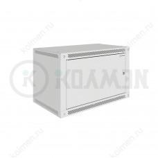 """Шкаф телекоммуникационный настенный Lite 19"""" 6U 600x600, дверь металл, серый (RAL 7035), SRW03-6060.06.01-GY"""