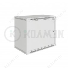 """Шкаф телекоммуникационный настенный Lite 19"""" 9U 600x450, дверь металл, серый (RAL 7035), SRW03-6045.09.01-GY"""