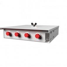 Кросс оптический настенный , 4 порта FC/UPC, 50/125 мкм OM2 (укомплектованный), SFOB-Wmk-4-FC/U-50