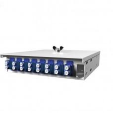 Кросс оптический настенный , 8 портов 2LC/UPC, 9/125 мкм (укомплектованный), SFOB-Wmk-8-2LC/U-9