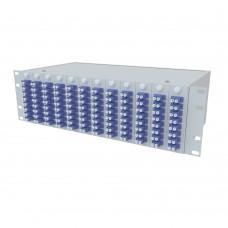 Кросс оптический стоечный 3U, 96 портов 2LC/UPC, 9/125 мкм (укомплектованный), SFOB-R-3U-96-2LC/U-9