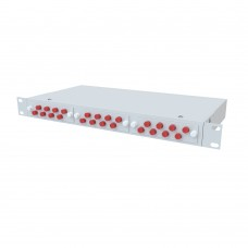 Кросс оптический стоечный 1U, 24 порта FC/UPC, 62.5/125 мкм OM1 (укомплектованный), SFOB-R-1U-24-FC/U-504