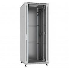 """Шкаф телекоммуникационный напольный 19"""" 42U 800x800, дверь стекло, серый (RAL 7035), Cabeus SH-05C-42U80/80"""