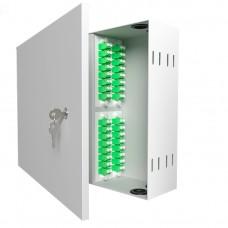 Кросс оптический настенный , 32 порта 2LC/APC, 9/125 мкм (укомплектованный), SFOB-W-32-2LC/A-9