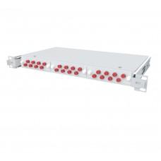 Кросс оптический выдвижной 1U, 24 порта FC/UPC, 50/125 мкм OM2 (укомплектованный), SFOB-Rs-1U-24-FC/U-50