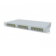 Кросс оптический стоечный 1U, 24 порта 2LC/UPC, 50/125 мкм OM3 (укомплектованный), SFOB-R-1U-24-2LC/U-503