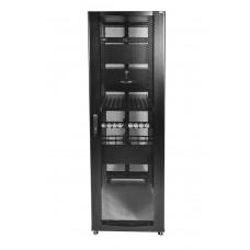 """Шкаф телекоммуникационный серверный 19"""" 42U 600x1130, дверь перфорированная, черный (RAL 9005), ЦМО ШТК-СП-42.6.12-48АА-9005"""