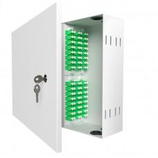 Кросс оптический настенный , 48 портов 2LC/APC, 9/125 мкм (укомплектованный), SFOB-W-48-2LC/A-9