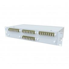 Кросс оптический стоечный 2U, 32 порта 2LC/UPC, 50/125 мкм OM4 (укомплектованный), SFOB-R-2U-32-2LC/U-504